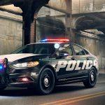 Un auto de policía sigiloso