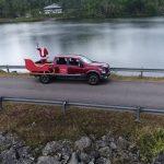 Exitoso el recorrido del trineo de Santa en la Nissan Titan 2018