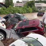 Decenas de autos nuevos «ahogados» en Nueva Jersey