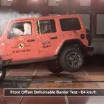 Falla el Jeep Wrangler JL en las pruebas de Euro NCAP