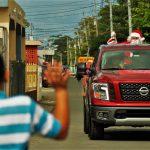 Exitoso el recorrido del trineo de Santa a bordo de Nissan Titan